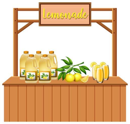 Een geïsoleerde limonade kraam