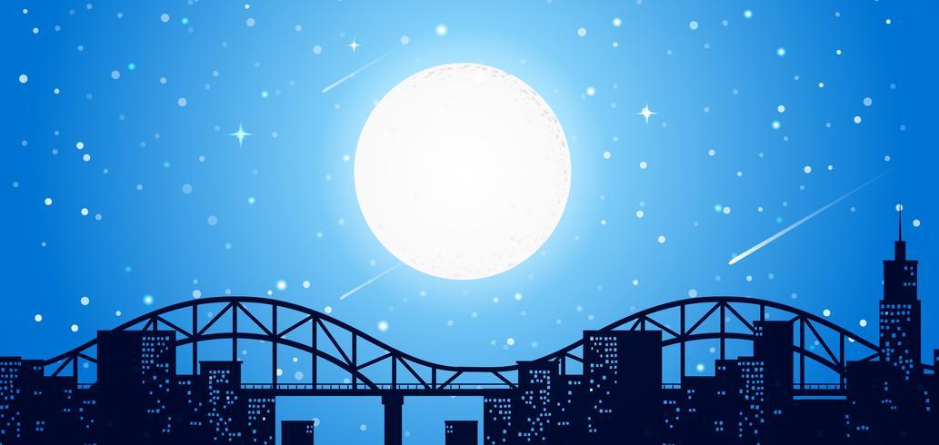 Linea del cielo della città di notte