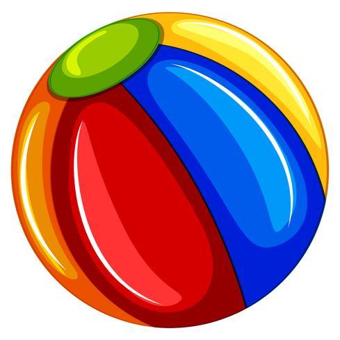 Una colorida pelota de playa sobre fondo blanco