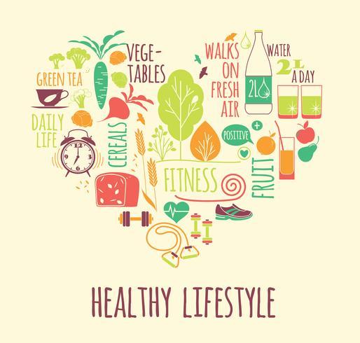Ilustración de vector de estilo de vida saludable.