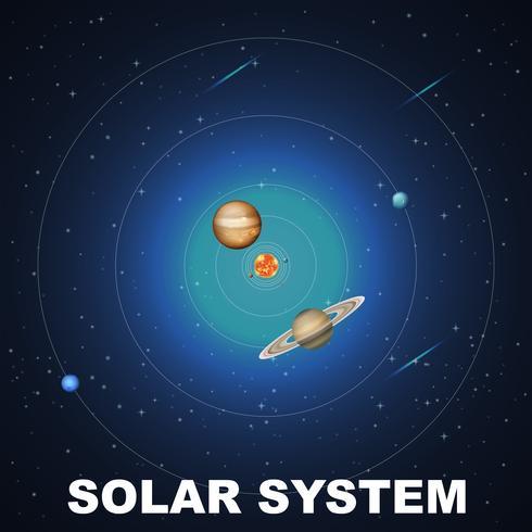 Escena conceptual del sistema solar