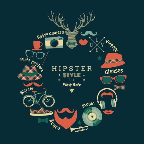 Ilustração em vetor design plano de estilo hippie.