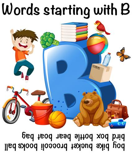 Muitas palavras que começam com B