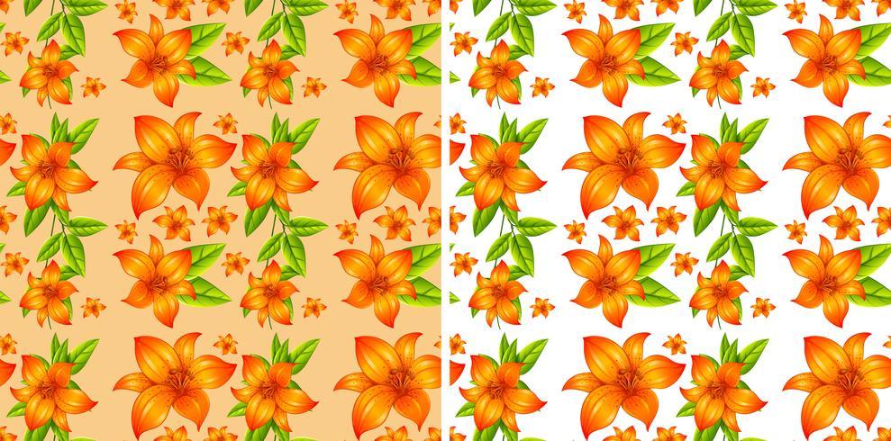 Fundo sem costura com flores laranja