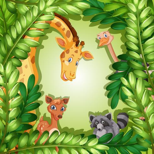 Wild dier in bosmalplaatje