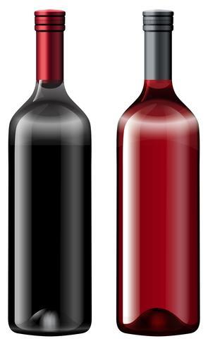 Deux bouteilles de vin