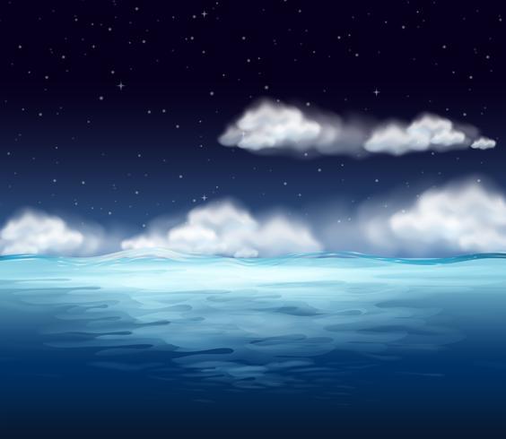 Um oceano no fundo da noite