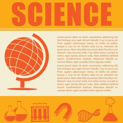 Wissenschaft Infografik mit Symbolen und Text