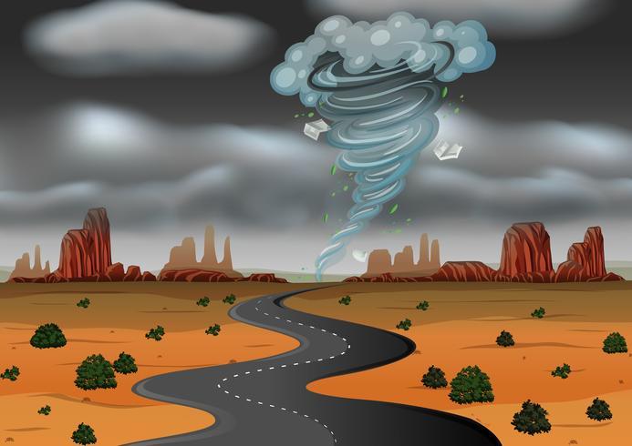 Una tempesta ha colpito il deserto