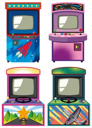 Quatro design de gameboxes de arcade