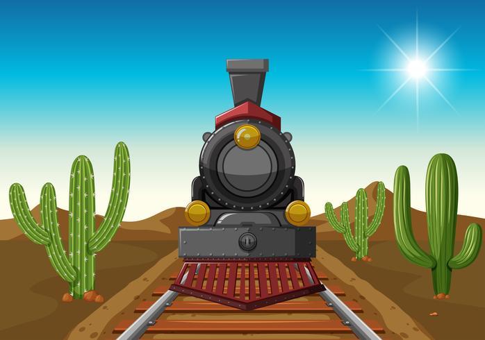 Passeio de trem no meio do deserto