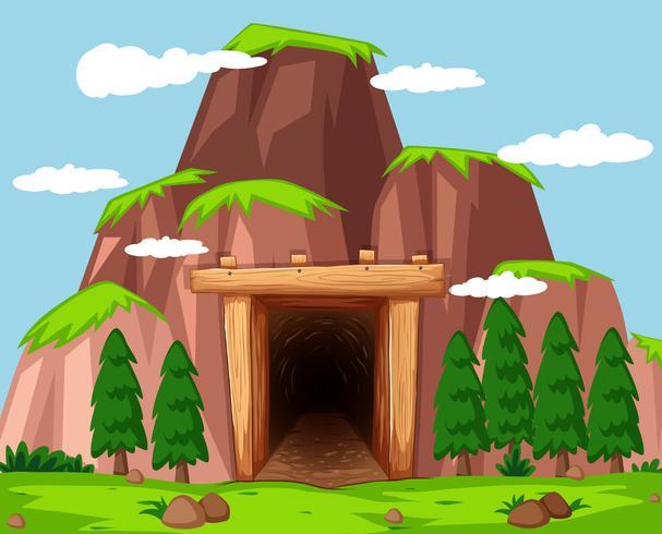 Entrée de la mine à la montagne