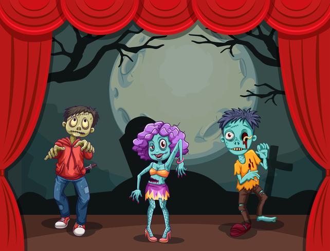 Drei Zombies auf der Bühne