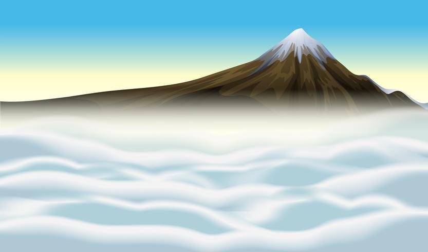 Opinião superior da montanha da natureza
