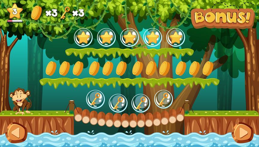 En spelmall Jungle Scene