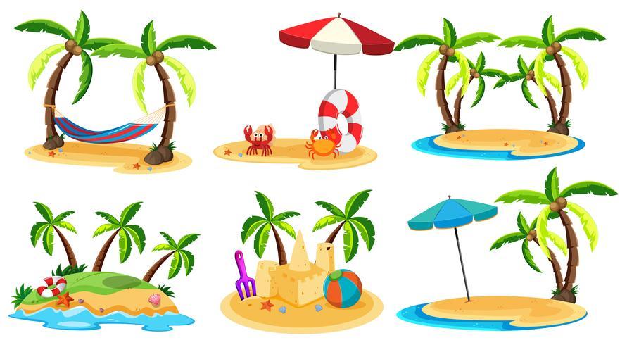 Een set van Paradise Island vector