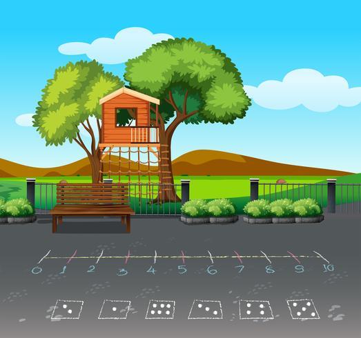 Baumhaus in der Naturlandschaft