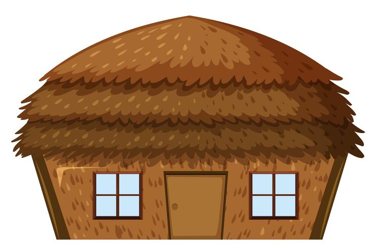 A house on white background