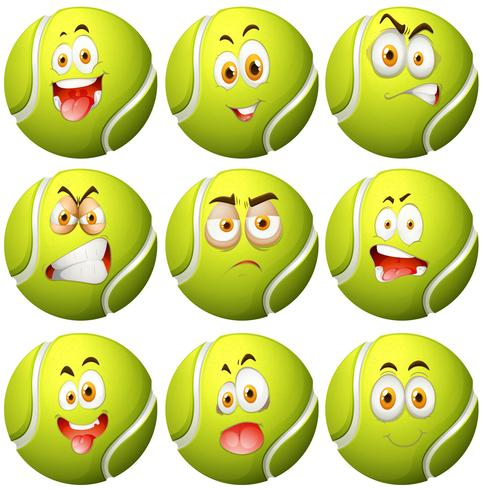 Tennis ball with facial expression - Download Free Vector Art, Stock Graphics & Images