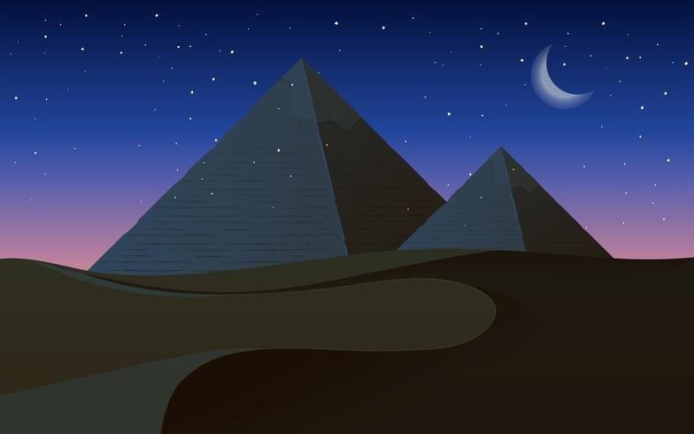 Um deserto à noite