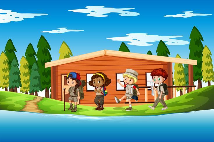 Gruppo di scena di scout