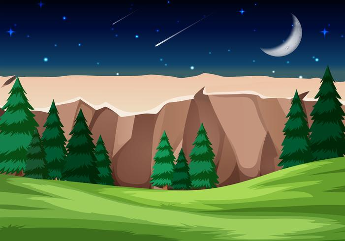 Cena do Parque Nacional à noite