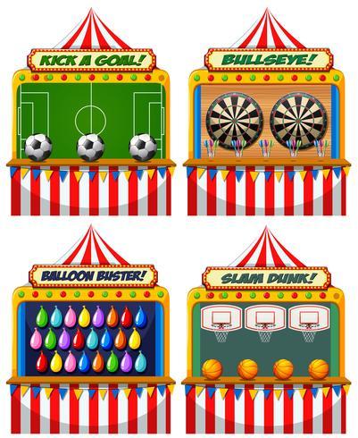 Eine Reihe von Fair Fair Spiel vektor