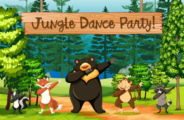 Jungle Dance Party Scene