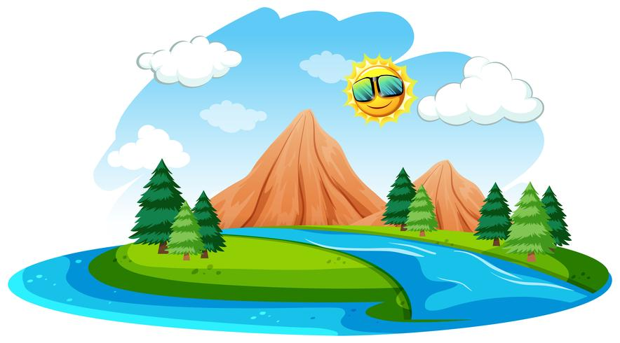 A river natural landscape - Download Free Vector Art, Stock Graphics & Images