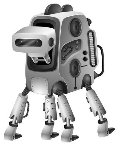 Robot moderno con cuatro patas.