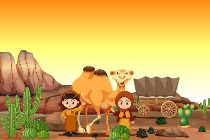 Arabe en el desierto