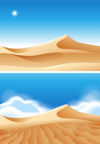 Hermosa escena del desierto en el día