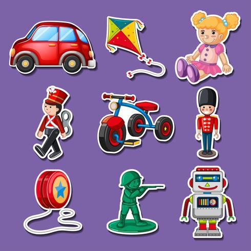 Sticker design for many toys