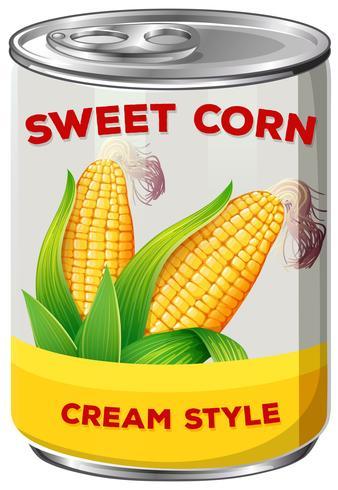 Una lata de maíz dulce