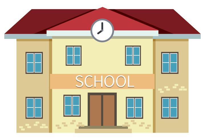 En gul skolbyggnad