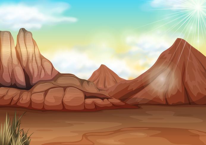 Szene mit Feld der Wüste