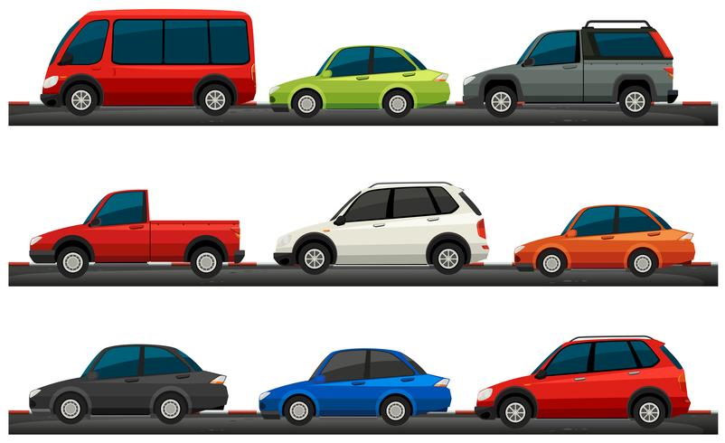 Different type of cars vector
