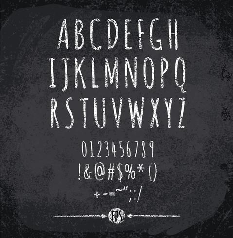 Illustration vectorielle de l'alphabet à la craie vecteur