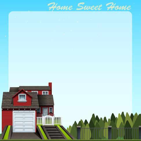Grenzdesign mit süßem Zuhause