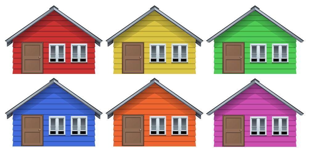Kleines Haus in sechs Farben