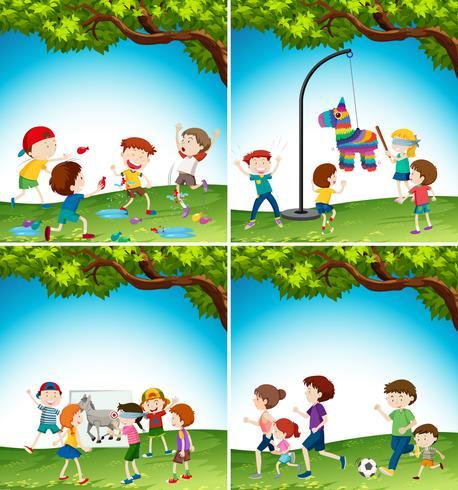 Crianças com atividade divertida