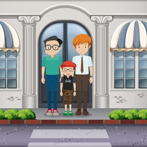 Famiglia LGBT Adoption Crossing the Road