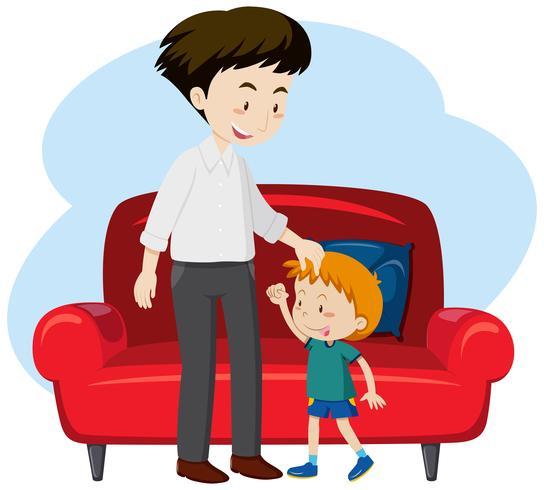Un padre y el hijo vector