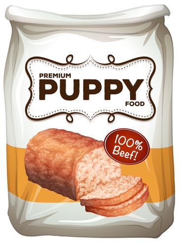Saco de comida para cachorro premium