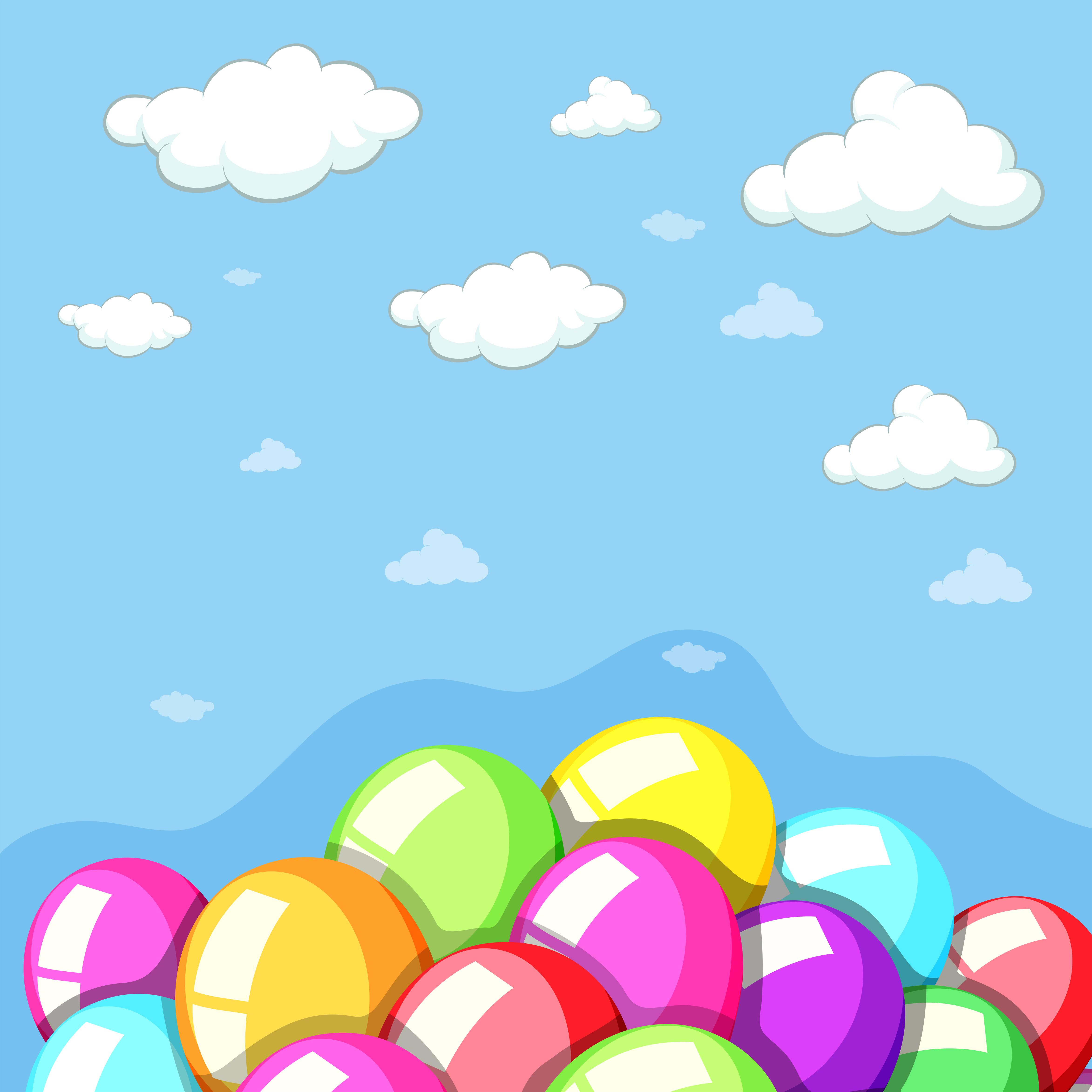 氣球背景 免費下載 | 天天瘋後製