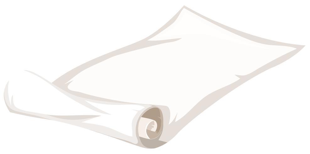 Um rolo de papel no fundo branco