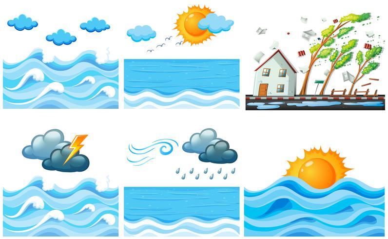 Verschillende scène met klimaatveranderingen