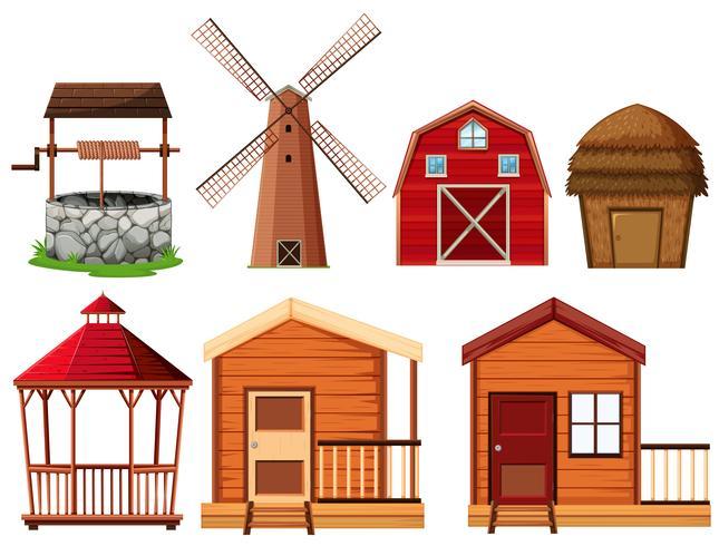 Farmelemente mit vielen Gebäuden