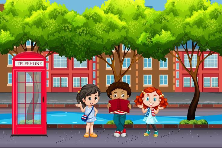 International children in urban city
