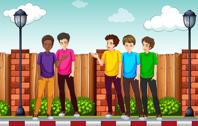 Um grupo de jovem